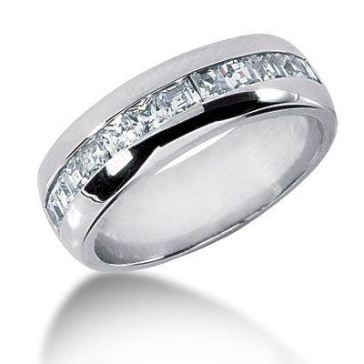 18k Gold Diamond Men S Wedding Ring 1 20ct