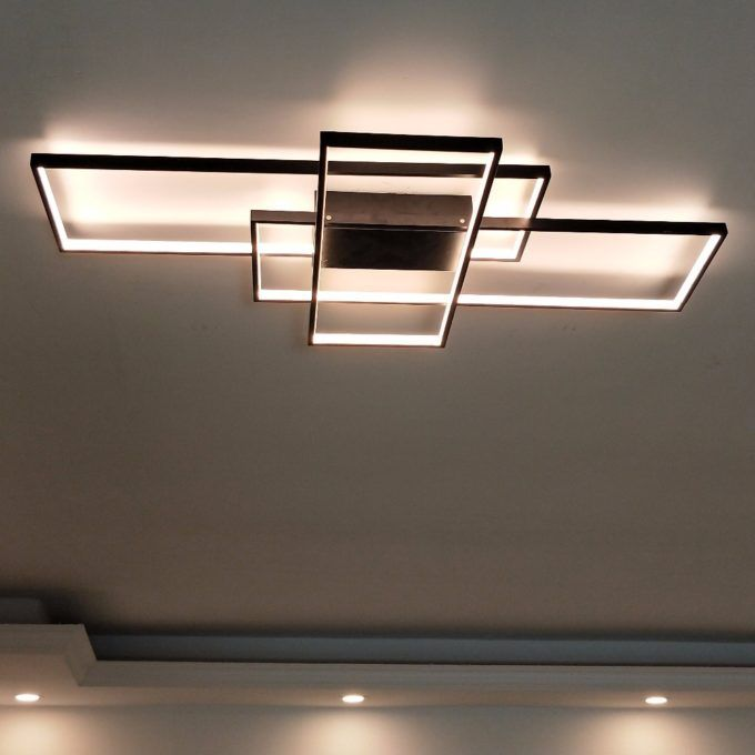 Ceiling Lights & Fans Objective Luxury Fashion Creative Crystal Ceiling Light Rectangular Simple Led Lamps For Bar Home Lighting Corridor Modern