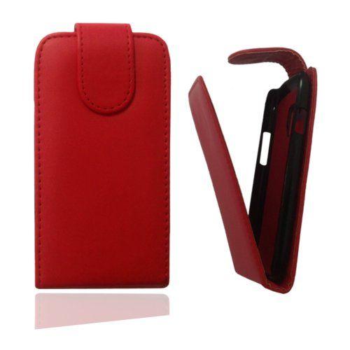 Flip Case Tasche Hülle Etui Handytasche in rot für Samsung Galaxy Star GT-S5280 inkl. World-of-Technik Touchpen