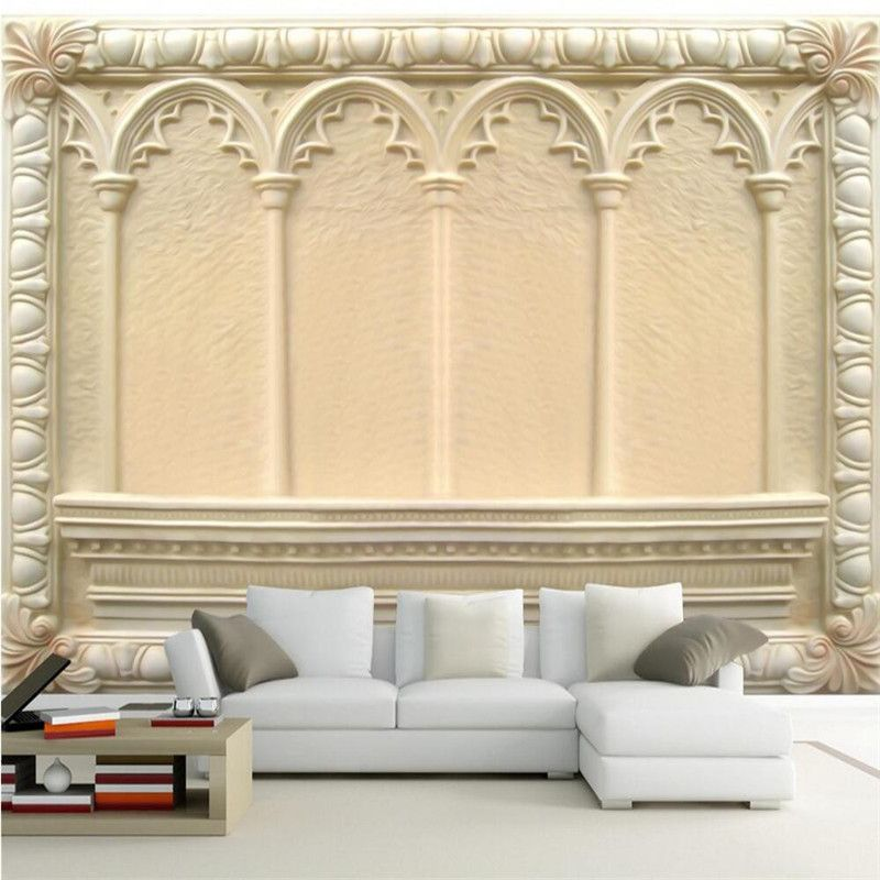 Home Decor Wallpaper For Living Room Art Of European Style Embossed Arch  Painting Photography Background Sofa