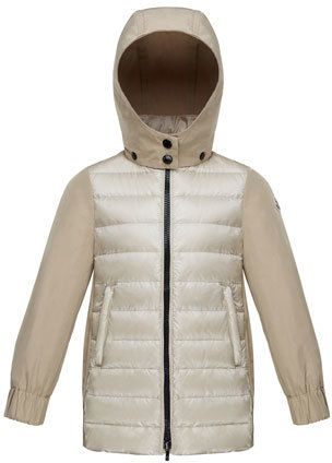 781863a35 Cleofen Twill/Down Combination Coat Size 4-6 | Products | Moncler ...