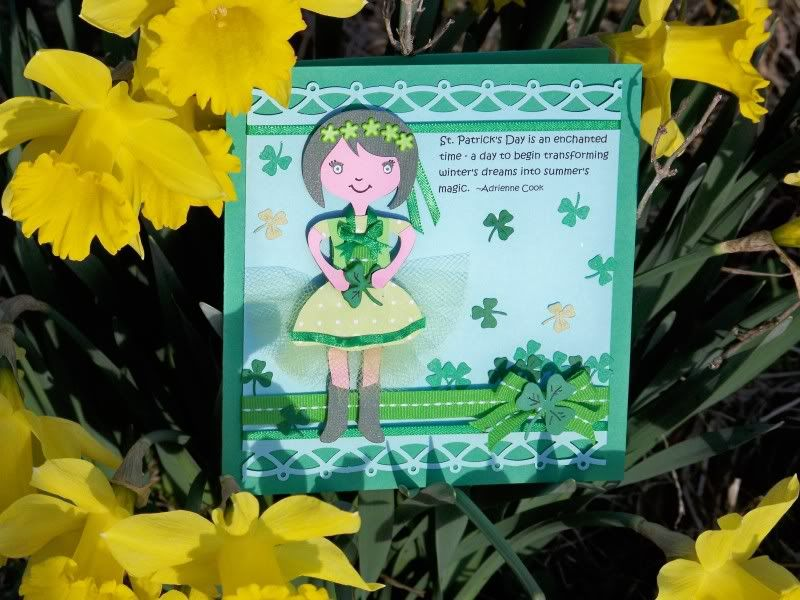 St Patrick's Day card complete tutorial