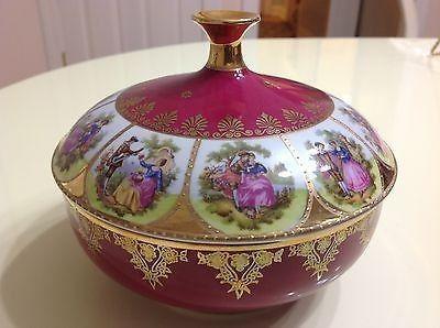 Vintage German Porcelain Bowl J K Decor Carlsbad Bavaria Artist