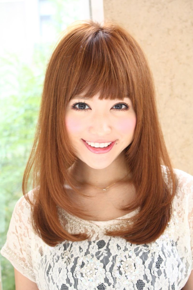 面 長 40 代 髪型 セミロング ストレート - Khabarplanet.com