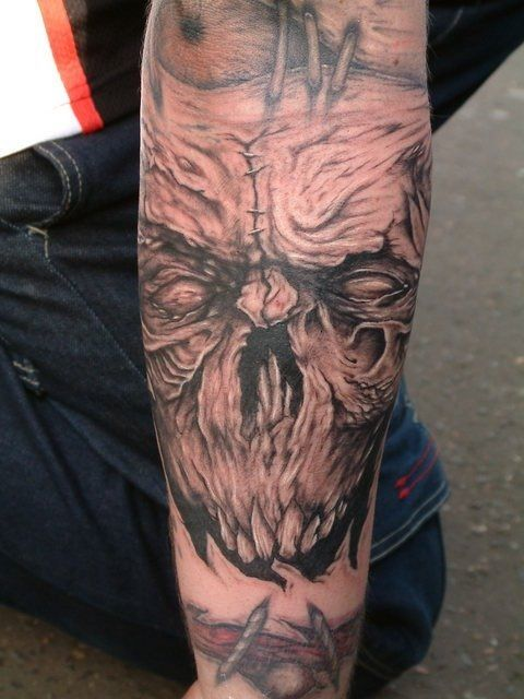 Evil Skull Sleeve Tattoos | Tags: Sleeve Tattoo | EVIL ...
