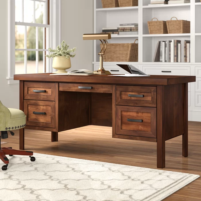 Pooler Solid Wood Executive Desk Desk Furniture Executive Desk Cheap Office Furniture