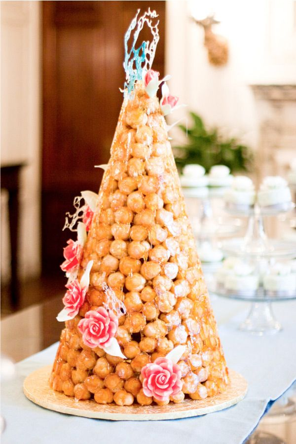 Croquembouche Decorated With Colorful Sugar Art Unusual Wedding Cakes French Cake