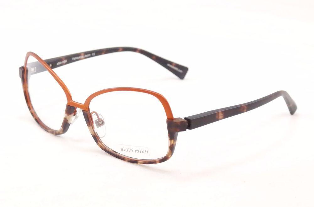 Alain Mikli Eyeglasses Japan AL1330 MOFD Copper Brown Metal Plastic ...