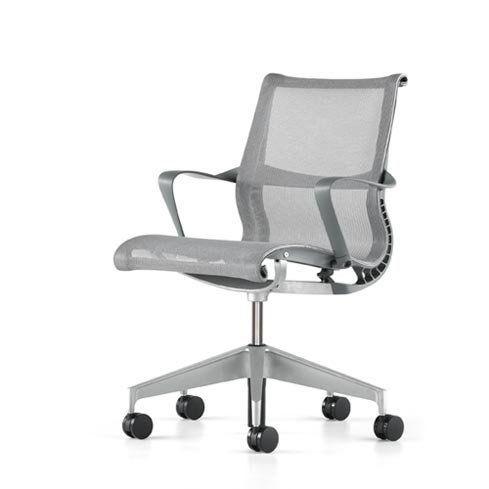 setu office chairherman miller - with arms - slate grey frame