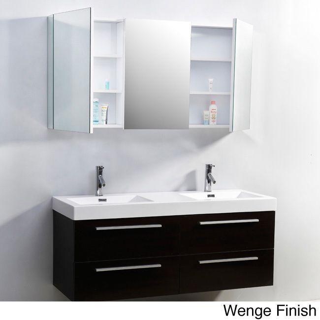 Contemporary Art Sites Virtu USA Finley Inch Double Sink Bathroom Vanity Set by VIRTU USA