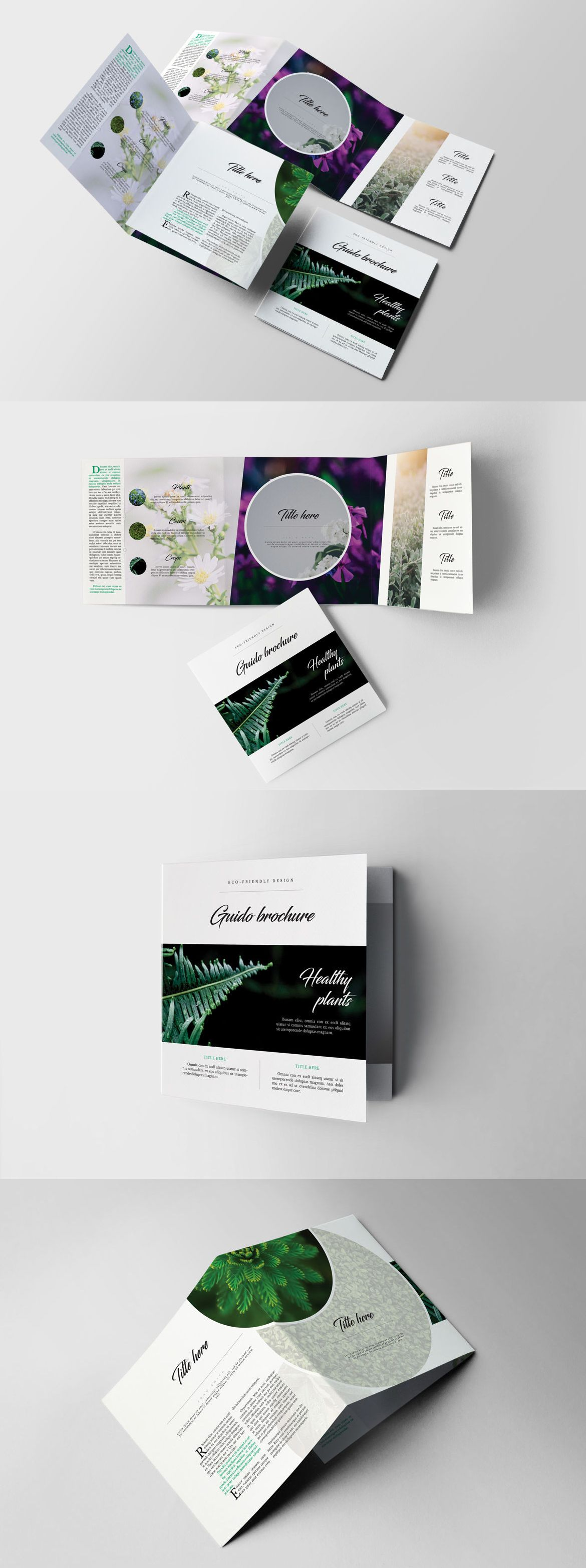 Guido Eco Garden Square Brochure Template InDesign INDD - Unlimited ...