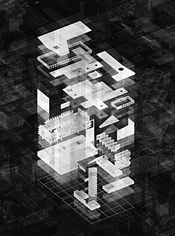 Exploded projection | school | Pinterest | Plakate und Grafiken