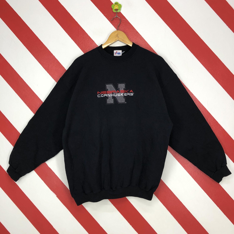 Vintage 90s Nebraska Sweatshirt Nebraska Crewneck Nebraska Etsy Sweatshirts 90s Sportswear Pullover [ 3000 x 3000 Pixel ]