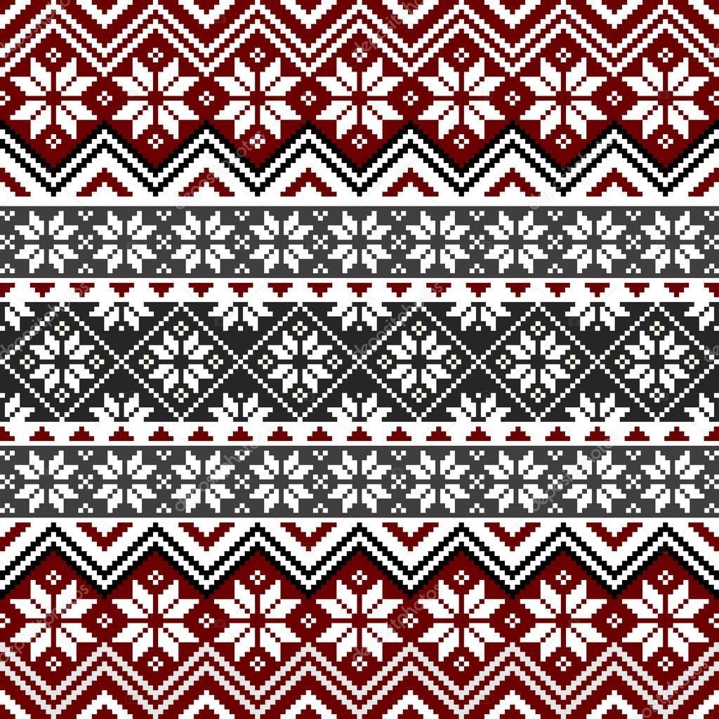 Herunterladen - Nordische Schneeflocke Muster — Stockillustration ...