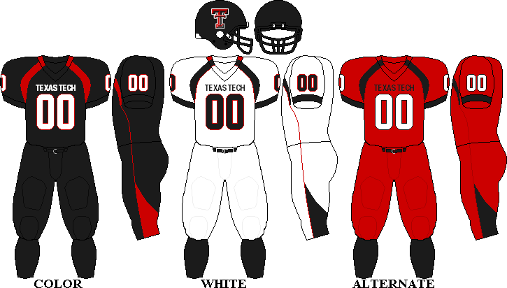 Texas Tech Red Raiders Football Team Uniforms Texas Tech Red Raiders Football Texas Tech Football Texas Tech Red Raiders