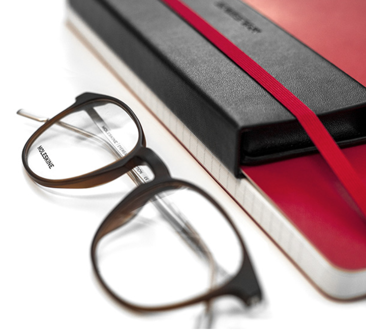 2ed7877c4ecc We love the new collection of Moleskine glasses which feature super thin  moleskine case.