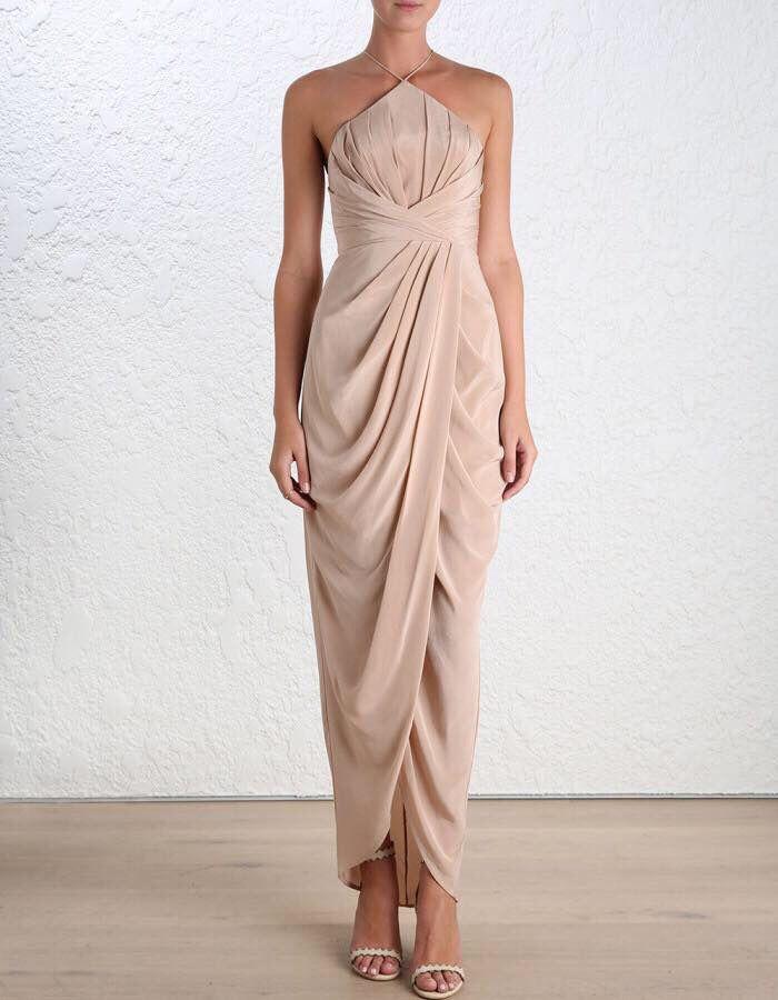 Silk Tuck Dress by Zimmermann in Peony  193808d00
