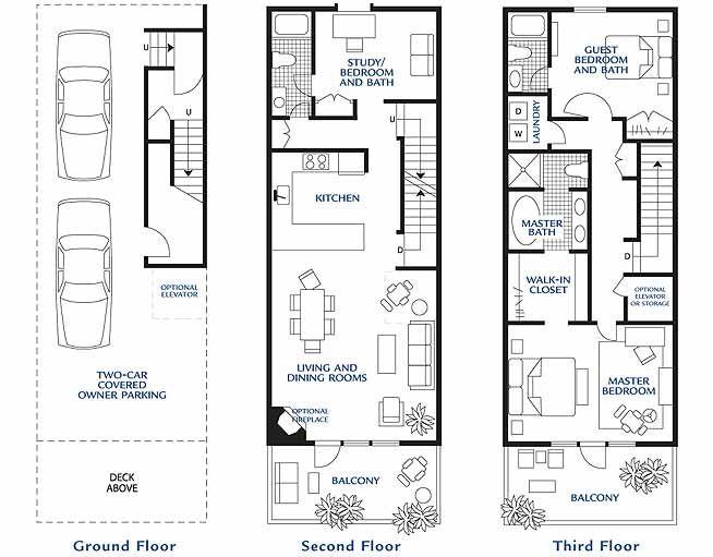 Hidden Harbor Yacht Club Model Residence Town House Floor Plan Floor Plans Townhouse Designs