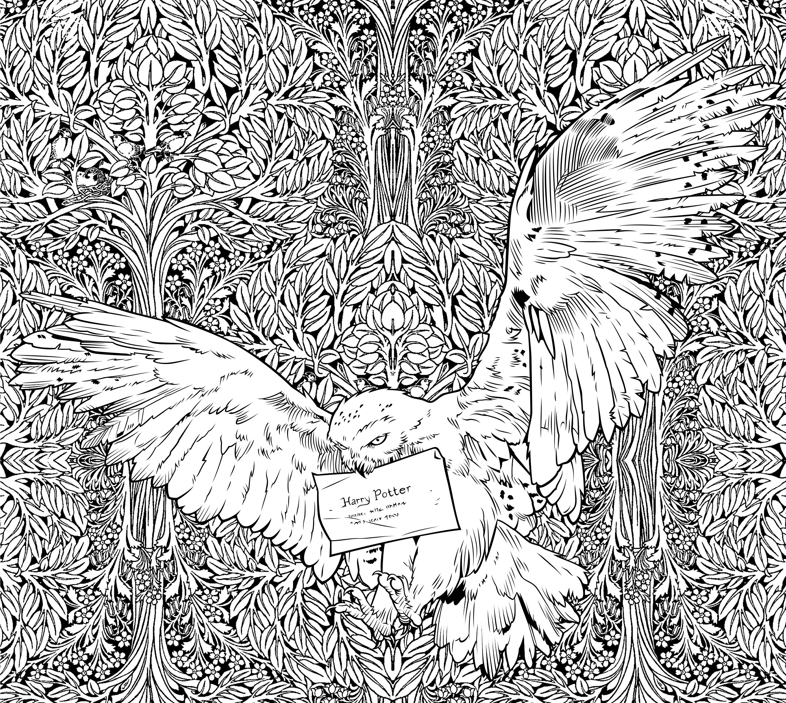 Awesome harry potter coloring pages for adults collection harry potter adult coloring pages