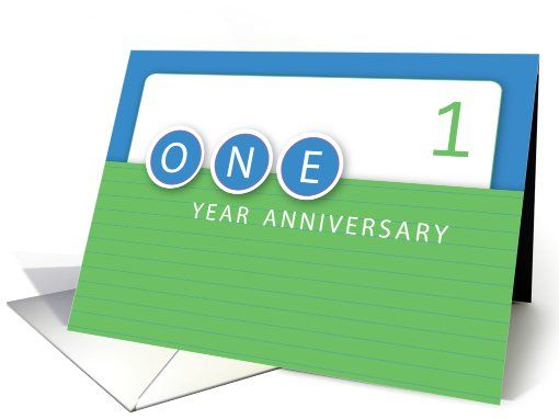 1 Year Employee Anniversary Congratulations Card Work Anniversary Cards Work Anniversary Employee Anniversary Cards