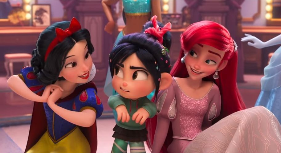 Wreck It Ralph 2 Vanellope Snow White And Ariel Disney Princess Art Wreck It Ralph Disney Princess
