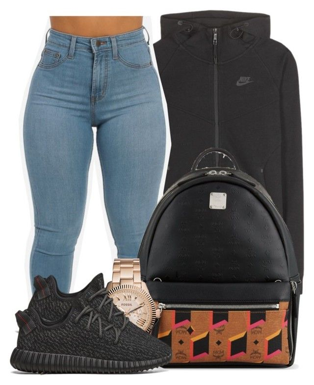 Eh. by bria-myell on Polyvore featuring polyvore fashion style NIKE adidas  Originals MCM FOSSIL clothing 89ad972b1