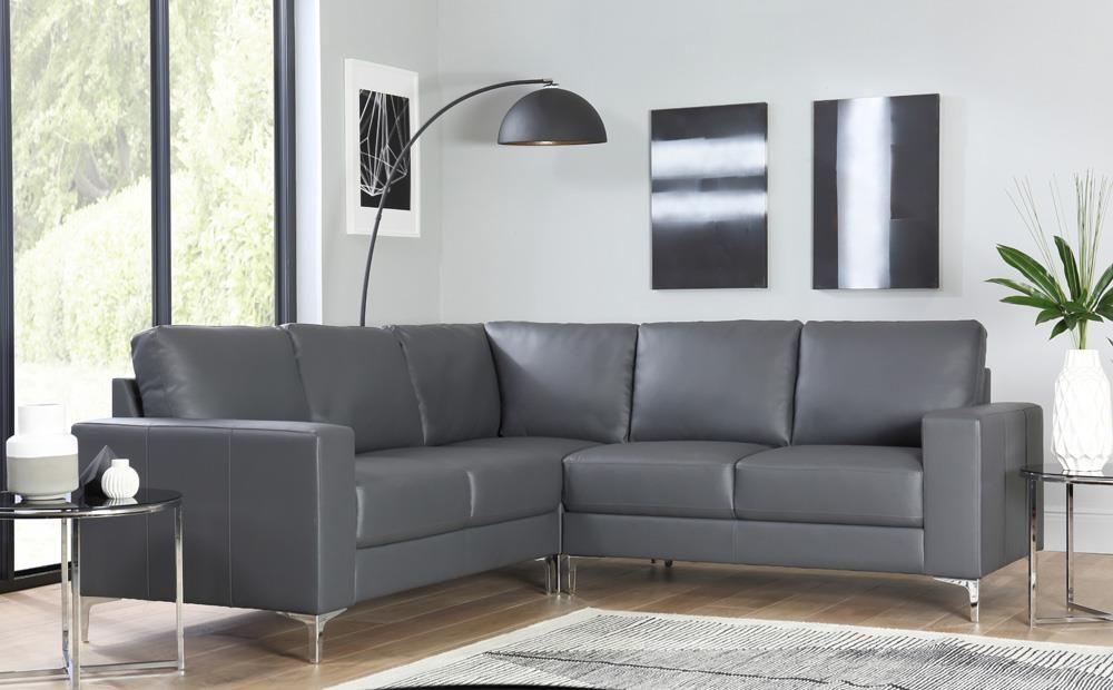 Die besten 25+ Grey leather corner sofa Ideen auf Pinterest Ikea - ecksofa kleines wohnzimmer