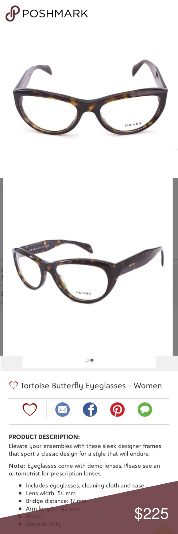 1c8fa37b32fb ... this listing on Poshmark  Prada Tortoise Butterfly Eyeglasses Brand new.   shopmycloset  poshmark  fashion  shopping  style  forsale  Prada   Accessories