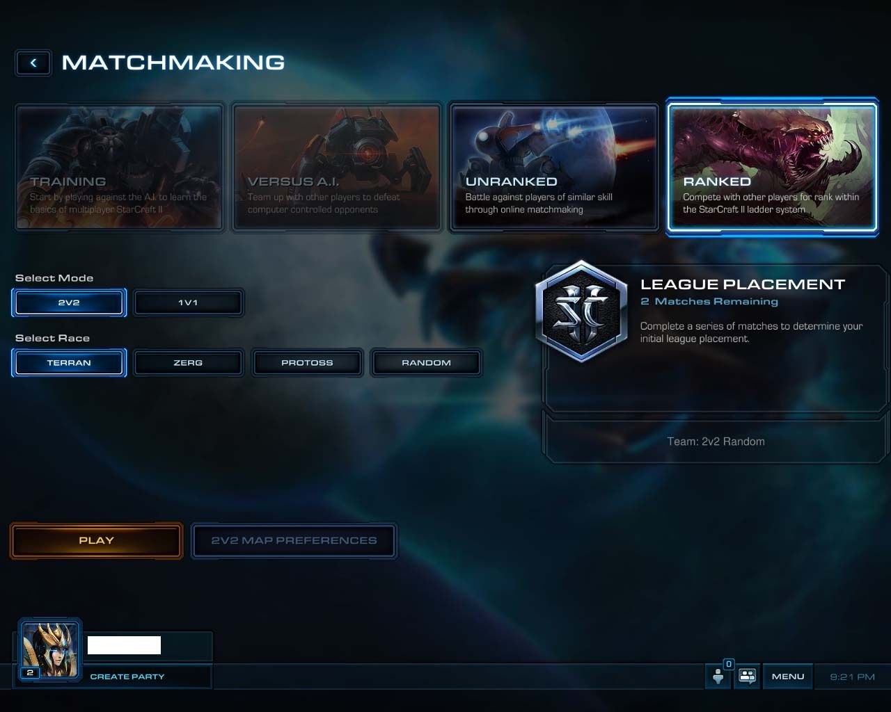 Starcraft 2 matchmaking