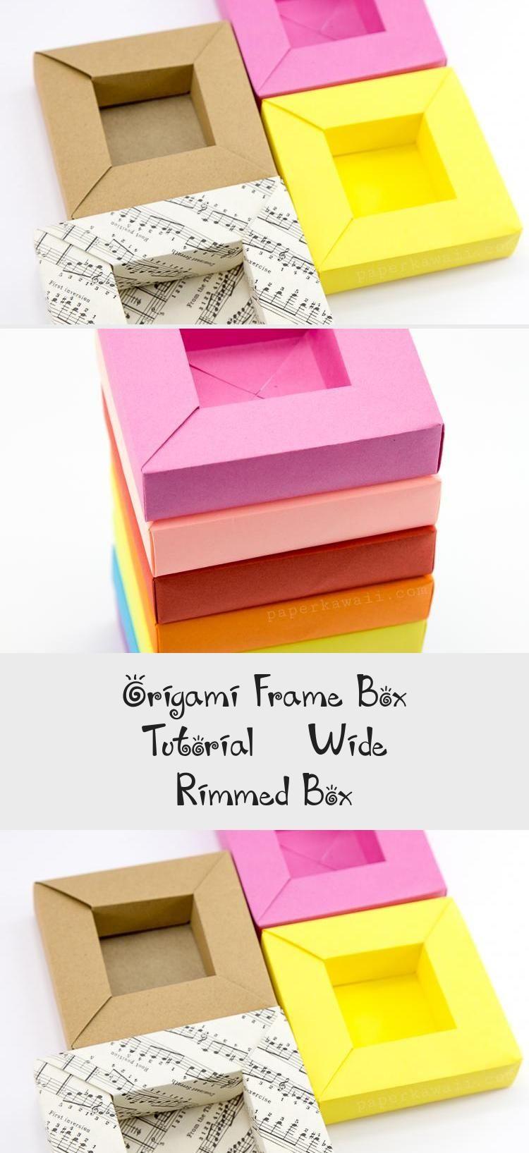 Photo of origami-frame-box-paper-kawaii-05 #origamiFashion #origamiBall #origamiDog #orig …