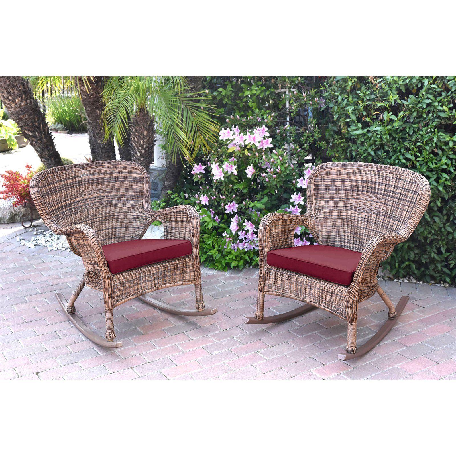Remarkable Jeco Windsor Resin Wicker Outdoor Rocking Chair Set Of 2 Inzonedesignstudio Interior Chair Design Inzonedesignstudiocom