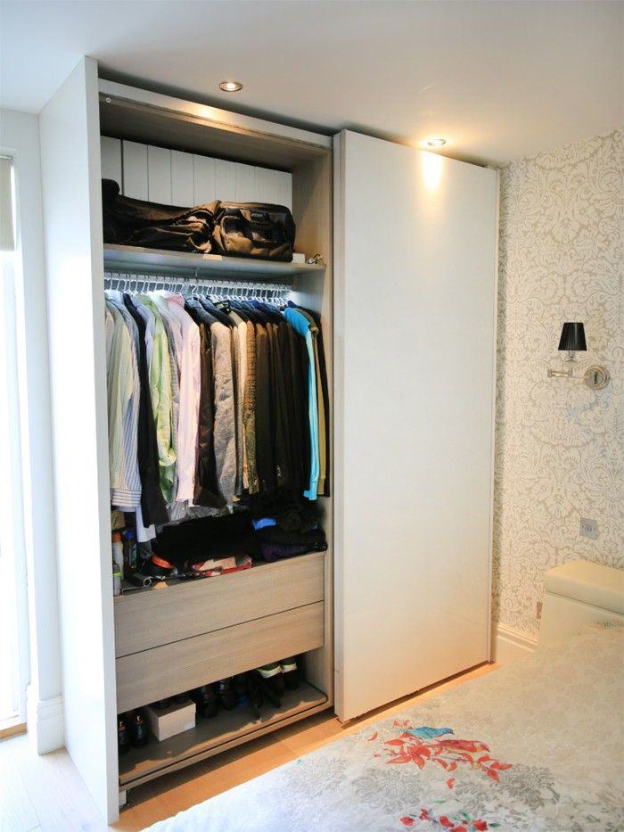 innovative design 502d8 f9525 Wardrobe sliding small rooms set up in 2019 | Sliding ...