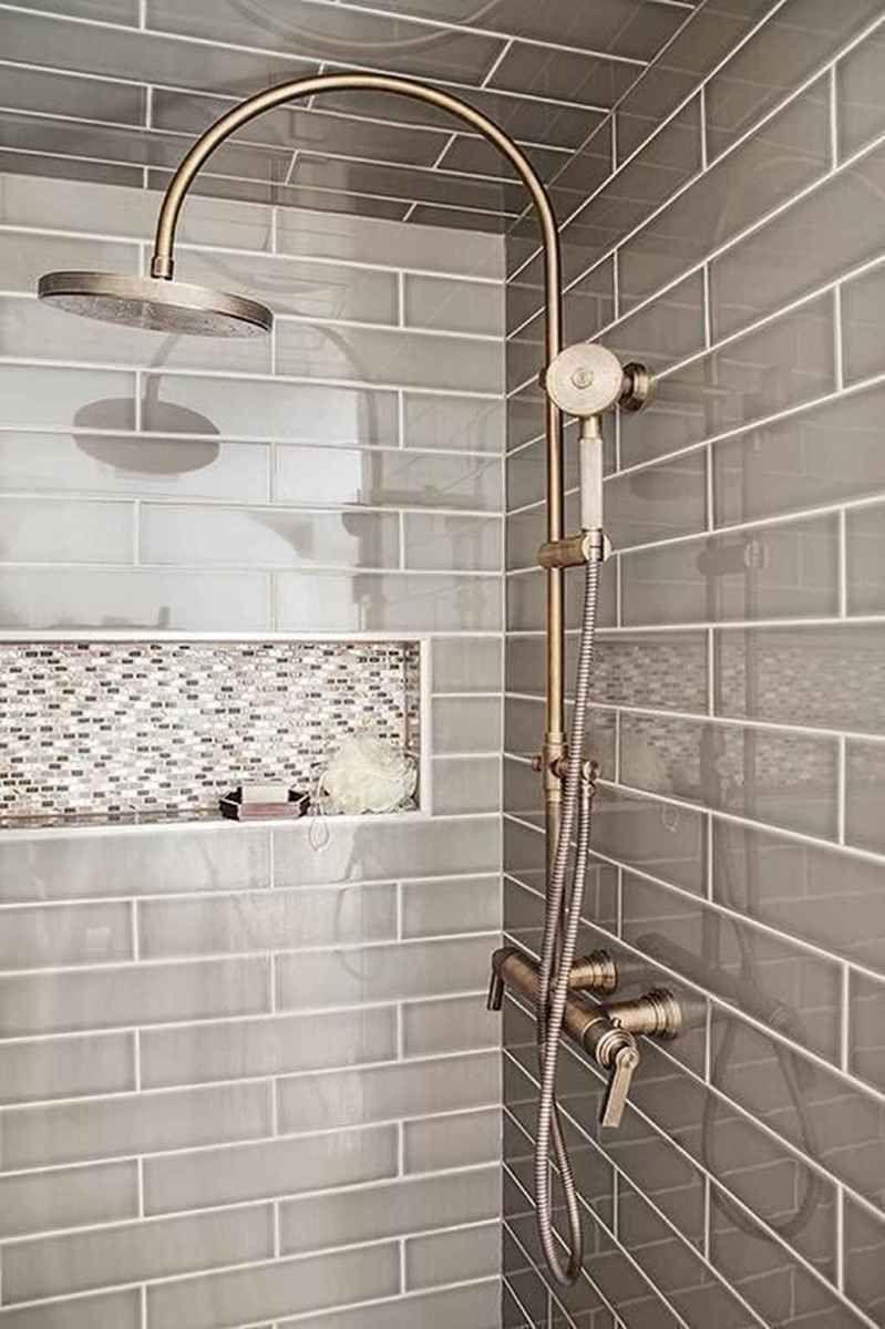 01 Stuning Farmhouse Shower Tile Remodel Ideas - Decoradeas