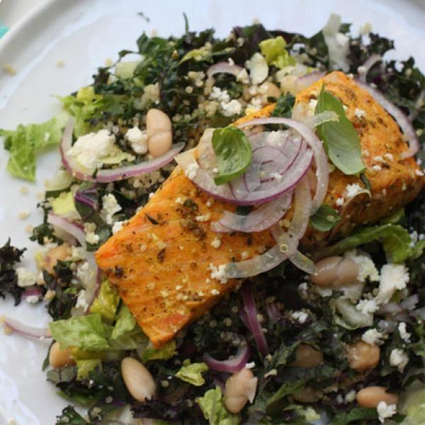 Coconut Curry Salmon Salad BE SURE TO LIKE US ON FACEBOOK https://www.facebook.com/BodyByVi90DayChallengeByViSalusScience