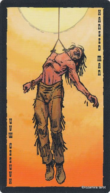 XII The Hanged Man - The Prairie Tarot by Robin Ator Tarot - u förmige küche