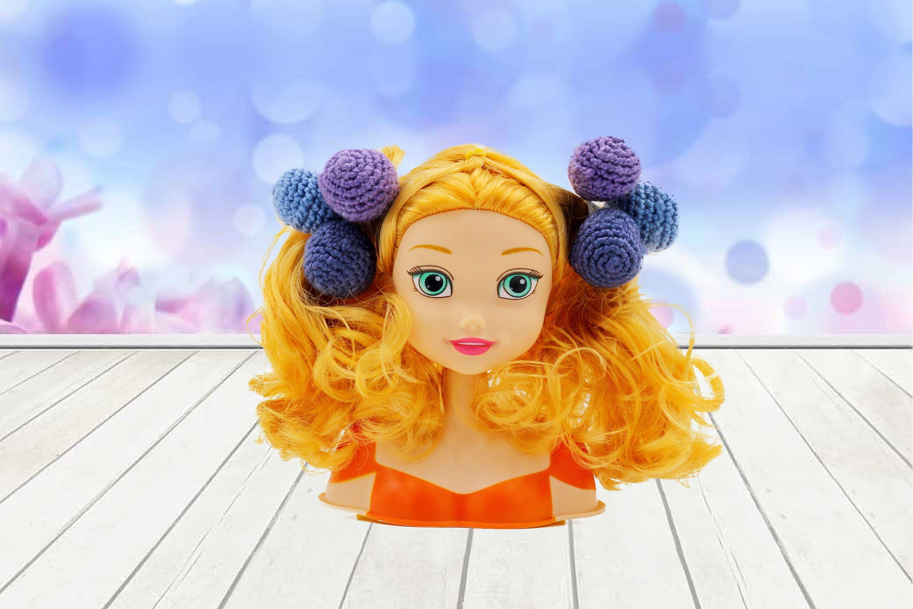 Hair ties pom pom balls Hair scrunchies Hair bobble set of 2 crochet Ponytail balls Toddler hair ties kids hair Hair Accessory for Girls #kidshairaccessories