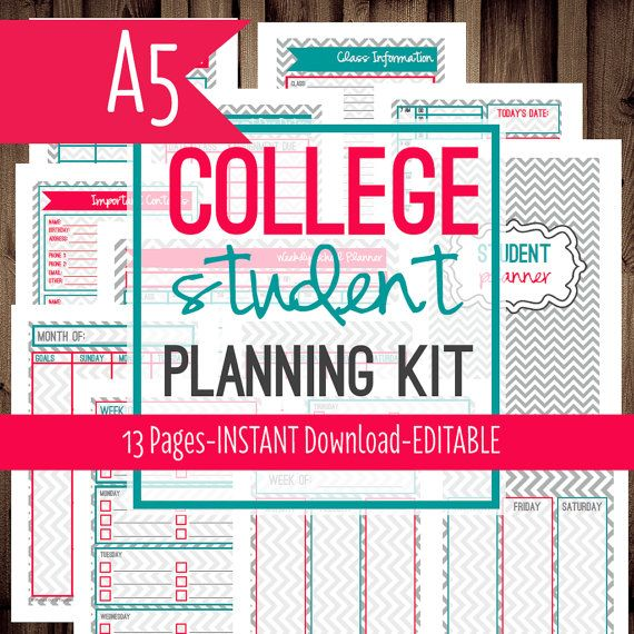 A FilofaxStudent PlannerCollege Planner Homework Planner