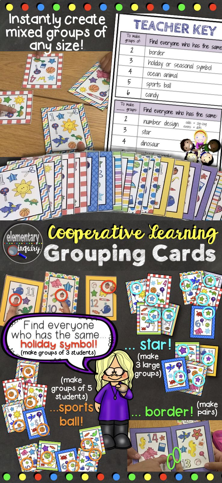 Flexible Student Grouping Cards for Cooperative Learning