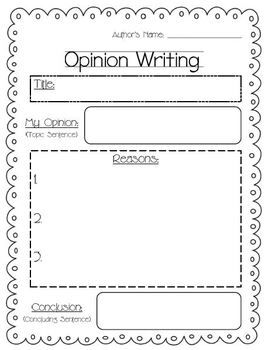Writing Outlines Opinion Informative Step Personal And