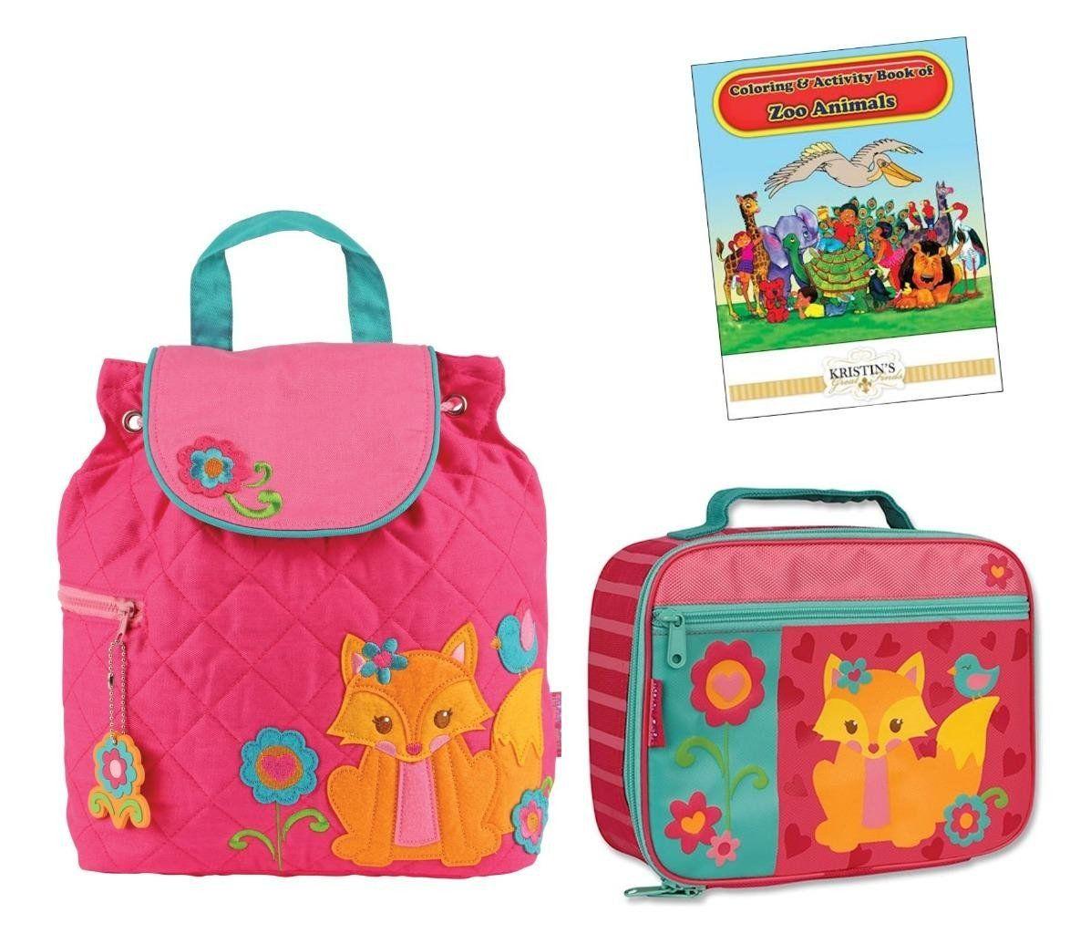 6739094c9bdf37 Stephen Joseph Kids Preschool Quilted Backpack Lunchbox Set ...