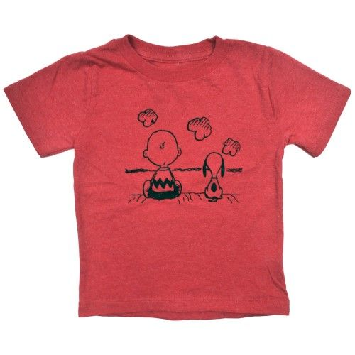 Peanuts Charlie Brown Snoopy Baby Toddler Boys T-Shirt Red, Toddler Boy's, Size: 18 Months