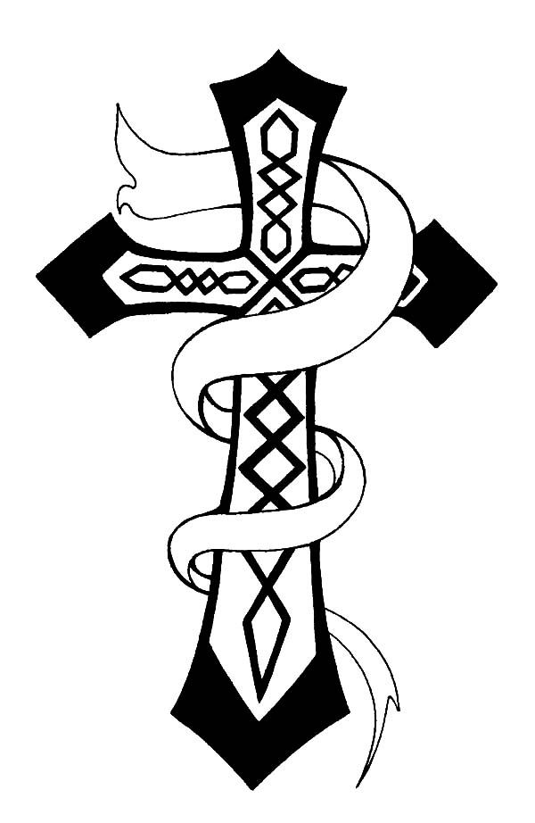 Christian Celtic Cross Coloring Pages