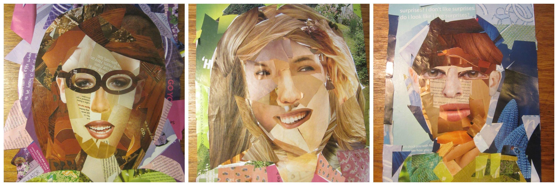 Homeschool Art Project Self Portrait Collage