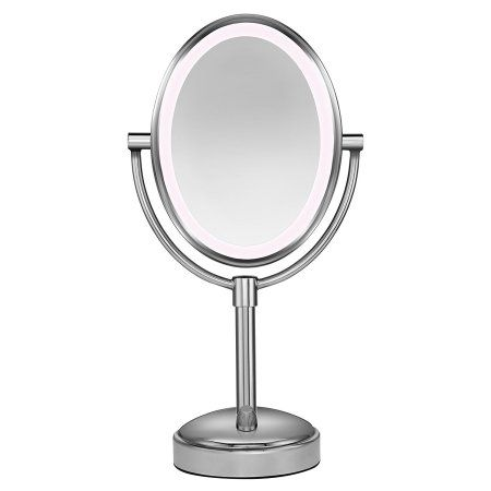 conair oval shaped led double sided lighted makeup mirror 1x 10 rh pinterest com