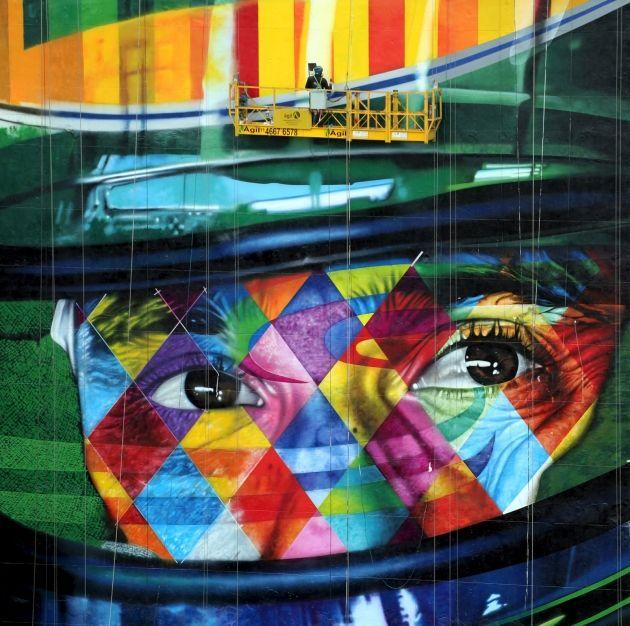 Lik Airtona Sene Na Zgradi U Sao Paolu Sene Street Art Sao