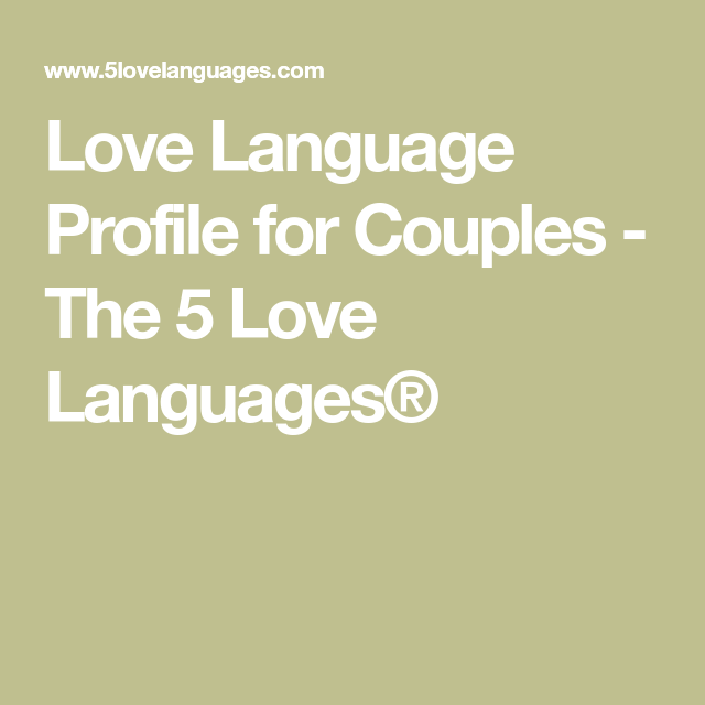Five love languages dating couples