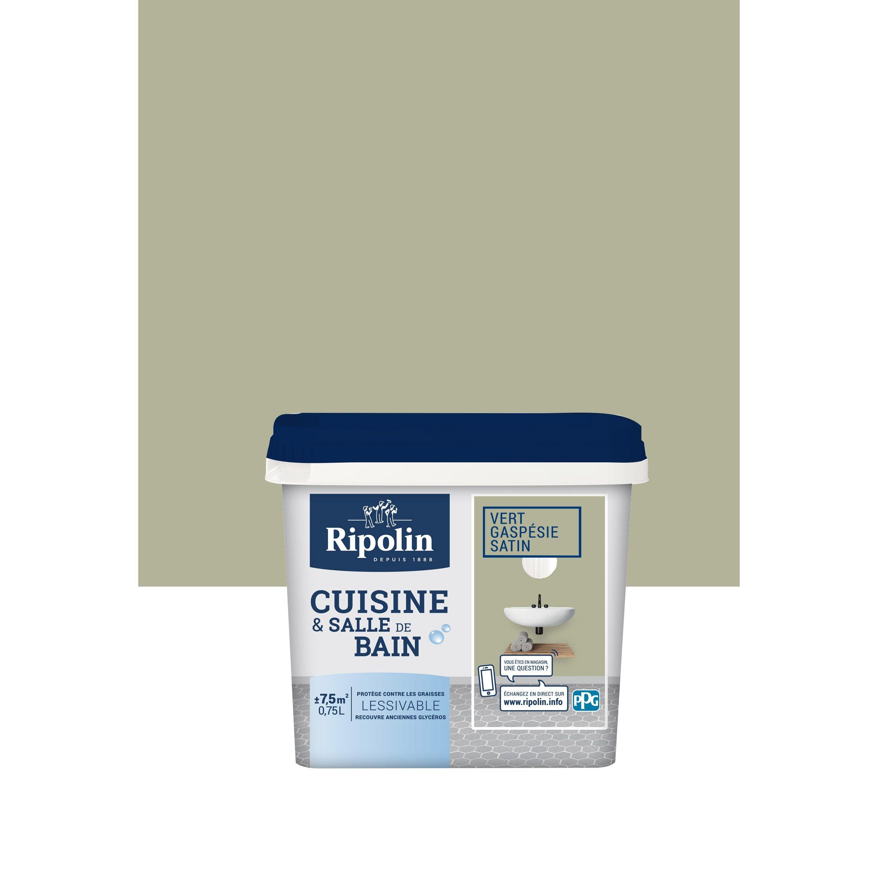 Peinture Mur Cuisine Et Bain Piece Humide Cuisine Et Bain Ripolin Vert Gaspes En 2020 Peinture Mur Cuisine Peinture Mur Et Peinture Cuisine