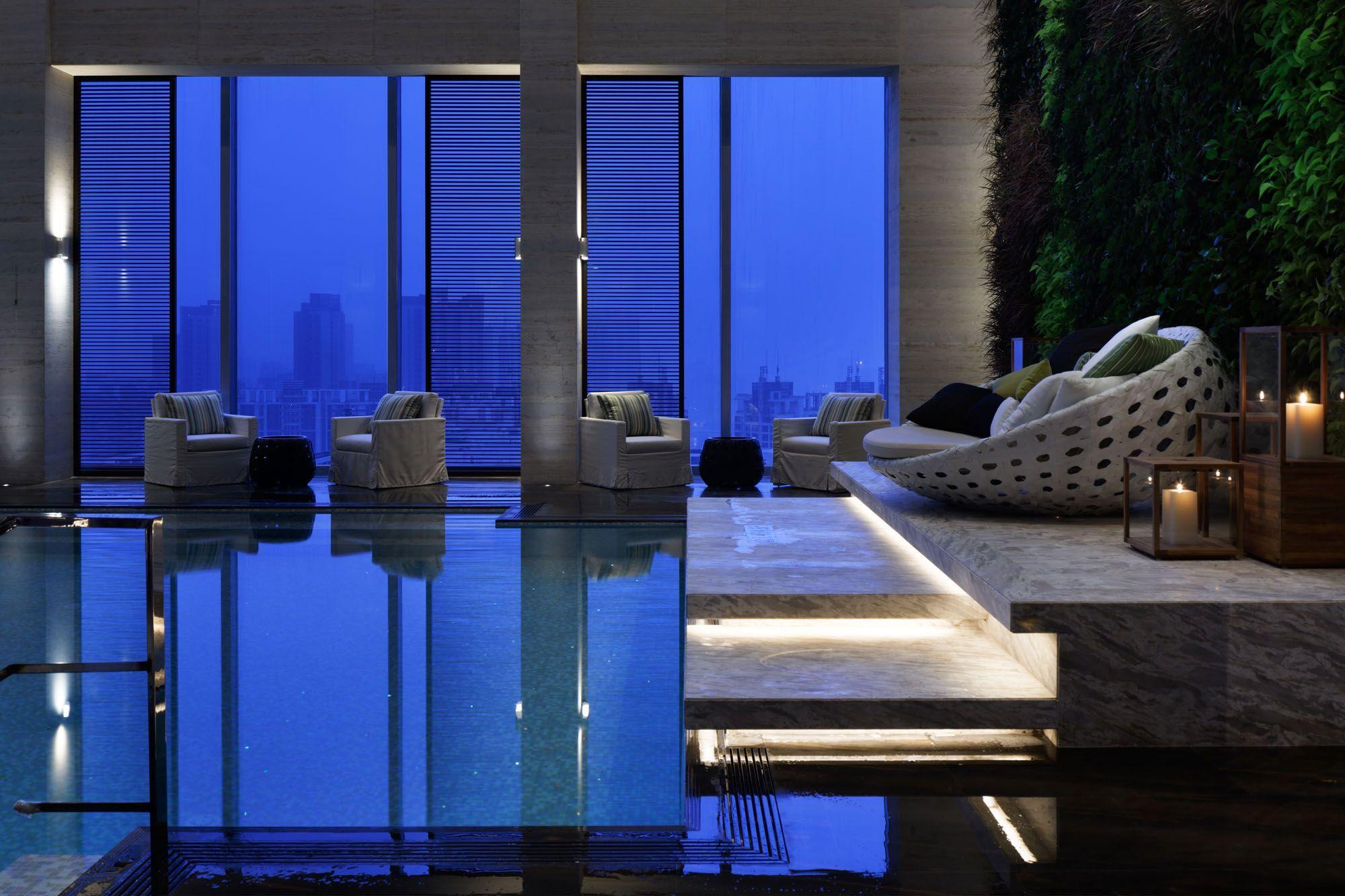 W Guangzhou Yabu Pushelberg Indoor Pool Hotel Swimming Pool