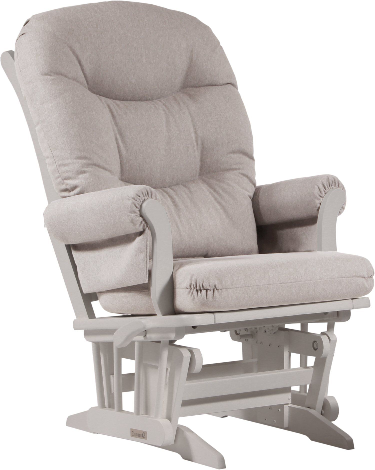 Dutailier Sleigh Glider Multiposition And Recline, Light Grey