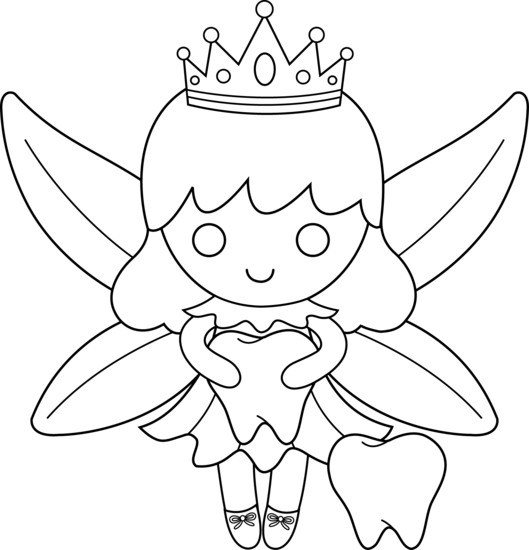 Cute Colorable Tooth Fairy Free Clip Art Fairy Coloring Fairy Coloring Book Fairy Coloring Pages